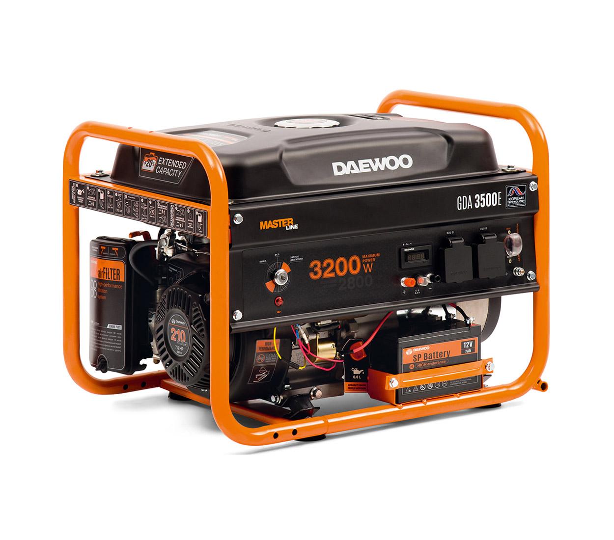 Бензиновый генератор (Бензогенератор) DAEWOO GDA 3500Е